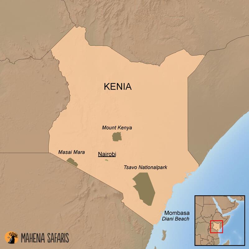 Mount Kenia Karte.Reiseinformationen Kenia Mahena Safaris