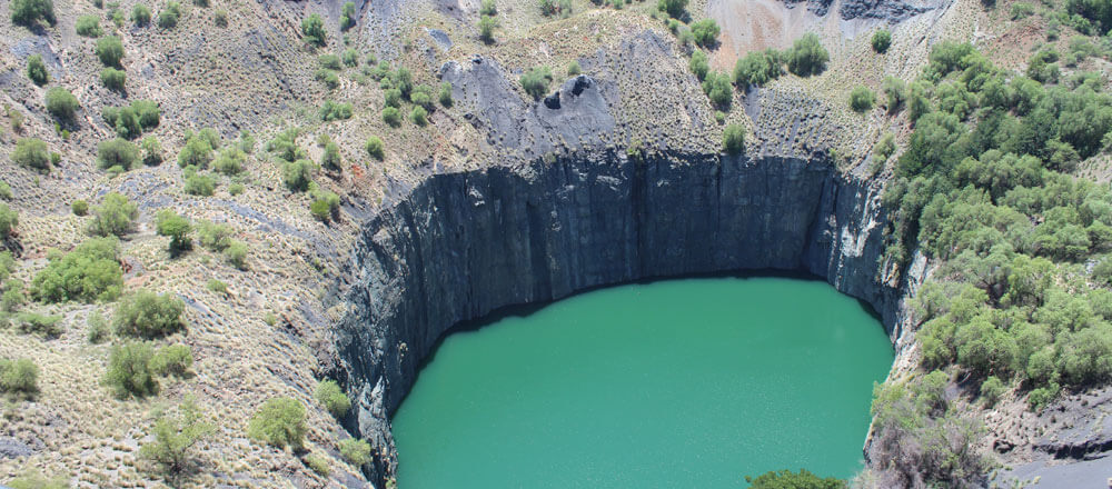 Big Hole in Kimberley - ehemalige Diamantenabbaumine